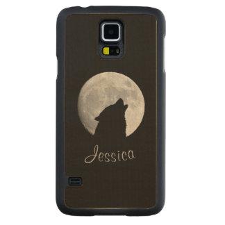 Capa De Bordo Para Galaxy S5 Lobo que urra na Lua cheia, seu nome