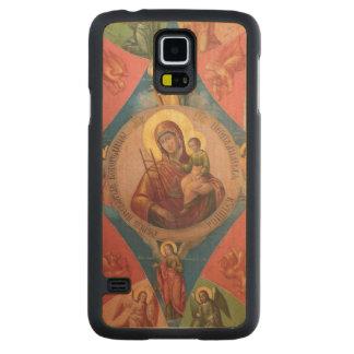 Capa De Bordo Para Galaxy S5 Mary, Jesus, e anjos