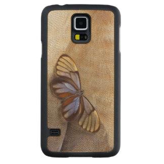 Capa De Bordo Para Galaxy S5 pena egípcia do ganso da borboleta da Vidro-asa
