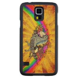 Capa De Bordo Para Galaxy S5 Unicórnio da sobrecarga, arco-íris & bordo