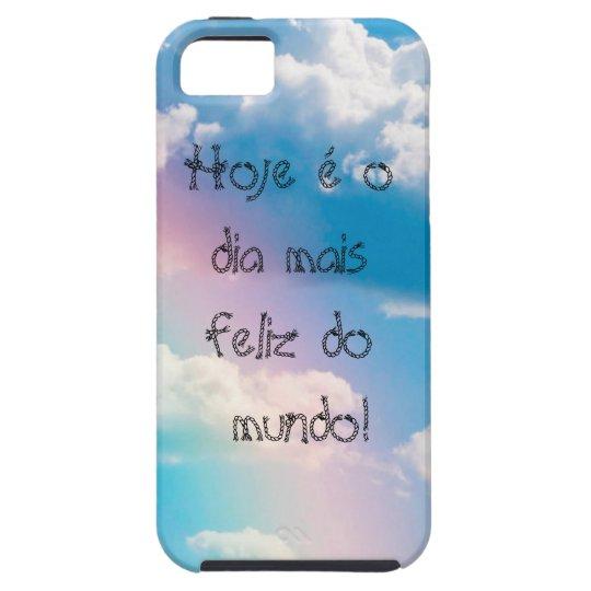 Capa de celular Iphone5 5s Céu com arco-íris