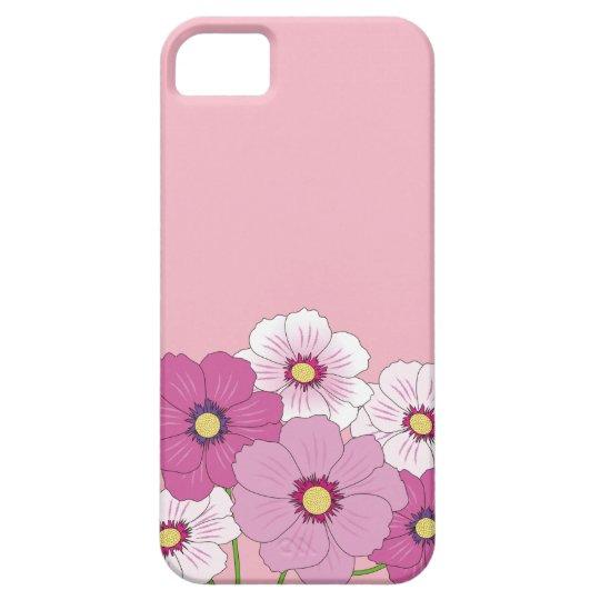Capa de celular rosa com flores