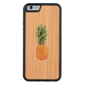 Capa De Cerejeira Bumper Para iPhone 6 abacaxi de madeira da caixa da cereja abundante do