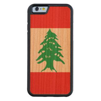 Capa De Cerejeira Bumper Para iPhone 6 Bandeira de Líbano