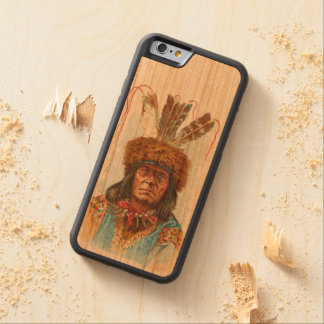 Capa De Cerejeira Bumper Para iPhone 6 Chefe de Sioux do Blackfoot: Lâmina grande