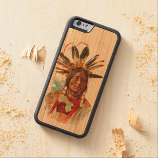 Capa De Cerejeira Bumper Para iPhone 6 Chefe de Sioux do Blackfoot: Muitos chifres