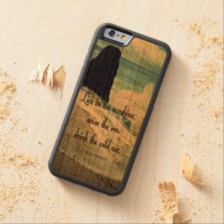 Capa De Cerejeira Bumper Para iPhone 6 Citações do mar do oceano da luz do sol