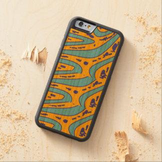 Capa De Cerejeira Bumper Para iPhone 6 cor do design