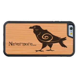 Capa De Cerejeira Bumper Para iPhone 6 Corvo nunca mais tribal