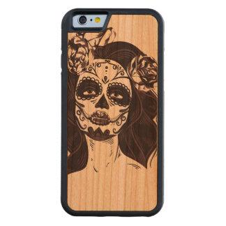 Capa De Cerejeira Bumper Para iPhone 6 Crânio gótico