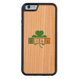 Capa De Cerejeira Bumper Para iPhone 6 Elemento químico Zz37b do cloverleaf irlandês