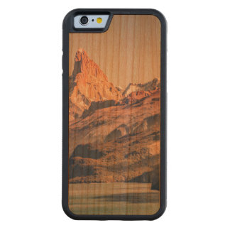 Capa De Cerejeira Bumper Para iPhone 6 Fitz Roy e montanhas de Poincenot Andes -
