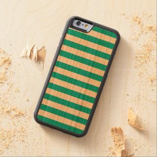Capa De Cerejeira Bumper Para iPhone 6 Listras horizontais do Aqua