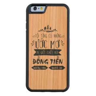 Capa De Cerejeira Bumper Para iPhone 6 Lưng Việt Nam de Ốp