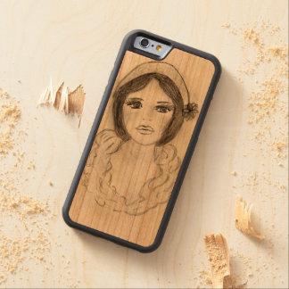 Capa De Cerejeira Bumper Para iPhone 6 Menina Ruffled do Flapper