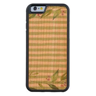 Capa De Cerejeira Bumper Para iPhone 6 O verde corajoso da arte da aguarela listra o