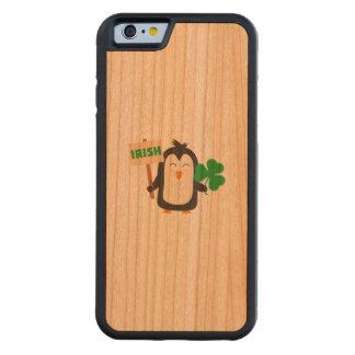 Capa De Cerejeira Bumper Para iPhone 6 Pinguim irlandês com trevo Zjib4