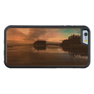 Capa De Cerejeira Bumper Para iPhone 6 Reflexão do por do sol da praia do rubi