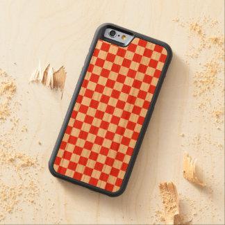 Capa De Cerejeira Bumper Para iPhone 6 Tabuleiro de damas vermelho