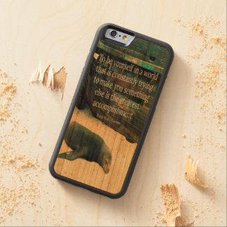 Capa De Cerejeira Bumper Para iPhone 6 Tema de inspiração da praia das citações da vida