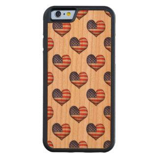 Capa De Cerejeira Bumper Para iPhone 6 Teste padrão dado forma coração da bandeira do