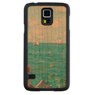 Capa De Cerejeira Para Galaxy S5 Claude Monet a cabine em belas artes do