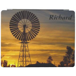 Capa de ipad australiana do por do sol do moinho