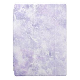 Capa de ipad de mármore roxa da textura