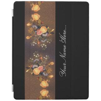 Capa de ipad floral da guarnição das flores dos