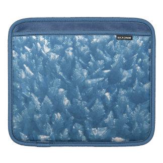 Capa De iPad fotografia azul fresca bonita dos cristais de gelo