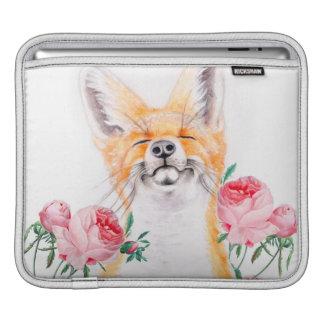 Capa De iPad Foxy feliz e rosas