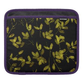 Capa De iPad Impressão floral escuro