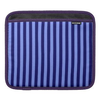 Capa De iPad Listras finas - luz - azuis e azuis escuro