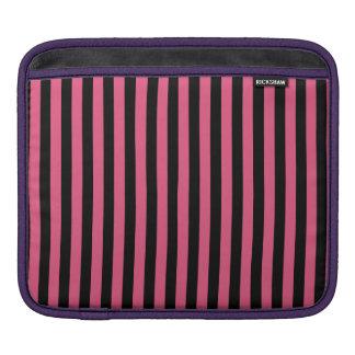 Capa De iPad Listras finas - pretas e rosa escuro