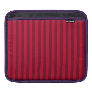 Capa De iPad Listras finas - vermelhas e obscuridade - vermelho