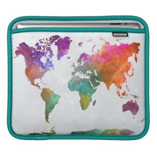Capa De iPad Mapa do mundo na aguarela