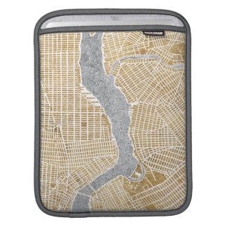 Capa De iPad Mapa dourado da cidade de New York