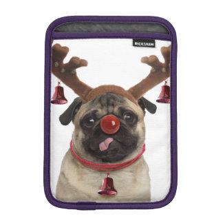 Capa De iPad Mini Antlers do Pug - pug do Natal - Feliz Natal