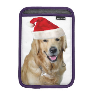 Capa De iPad Mini Cão-animal de estimação do cão-papai noel de claus