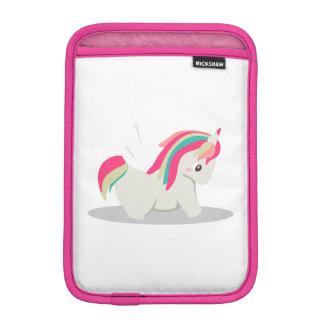 Capa De iPad Mini Chibi carnudo bonito do unicórnio que cora