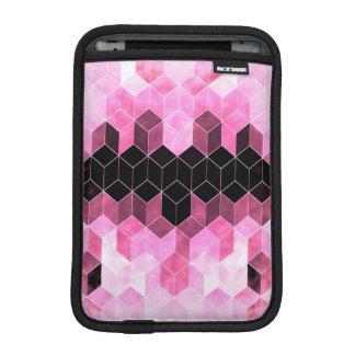 Capa De iPad Mini Design geométrico cor-de-rosa & preto intenso
