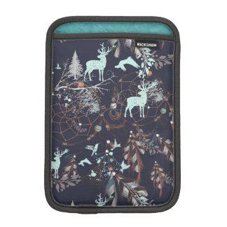 Capa De iPad Mini Fulgor no teste padrão tribal do boho escuro da
