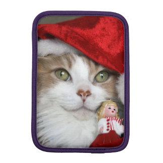 Capa De iPad Mini Gato do papai noel - gato do Natal - gatinhos