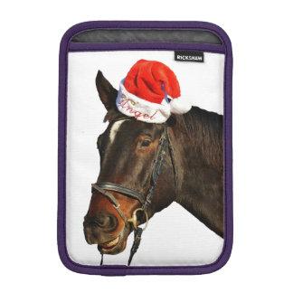 Capa De iPad Mini Papai noel do cavalo - cavalo do Natal - Feliz