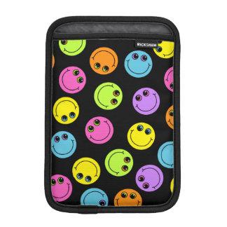 Capa De iPad Mini Smileys face coloridos no preto