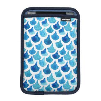 Capa De iPad Mini Teste padrão azul da escala da aguarela