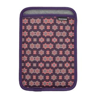 Capa De iPad Mini Teste padrão de flor colorido no roxo escuro
