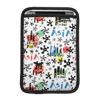 Capa De iPad Mini Teste padrão dos símbolos de Ásia |