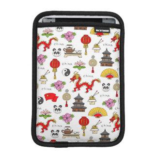 Capa De iPad Mini Teste padrão dos símbolos de China