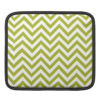 Capa De iPad O ziguezague verde e branco listra o teste padrão